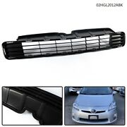 Fit For 2010 2011 Toyota Prius Insert Front Bumper Lower Grille Black Plastic