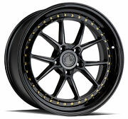 19x9.5/19x11 Aodhan Ds08 5x114.3 +15/22 Flow Forged Black Wheels Set Of 4