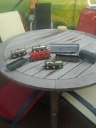 Vintage O Gauge Marx,and Lionel Tin Train Cars, 8 Pieces, Tankers, Caboose
