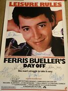 Really Nice Ferris Bueller's Day Off Signed Movie Poster 9 Sigs W/ Hughes