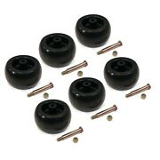 Pack Of 6 Deck Wheels And Bolts For Mtd 734-04039 73404039 734-3058 734-3058b