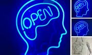 Neon Signs Open Mind Brain Blue Neon Light Beer Bar Home Wall Decor Provides