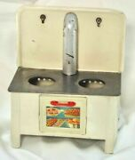 Vintage Metal Tin Toy Stove From 1940's Or 1950's