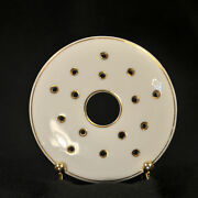 Noritake Butter Strainer Hand Painted Made In Japan 175 White And Gold 1918-1931
