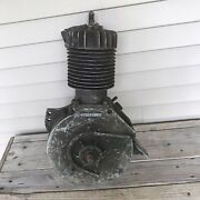 Antique 1917 Harley Davidson V-twin Motorcycle Motor For Parts Or Repair