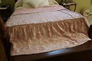 1960and039s Vintage Damask Or Matelasse Bedspread Pink Full Or Queen