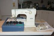 Vintage Elna Su 62c Sewing Machine Comes W/camsaccessories Foot Pedal And Case