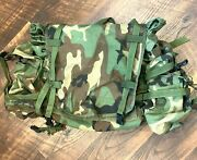 Woodland Molle Ii Rucksack Ruck Main Pack Backpack Pouch Sustainment 6 Mag Radio