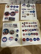 74 Political Campaign Buttons Pins Nixon Humphrey Ford Ike Dick Kennedy Bush