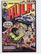 L'incroyable Hulk 39 Heritage French /canadian 1st Cameo Wolverine Bandw