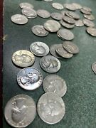 1930and0395 To 1964 Us Silver Washington Quarter Dollar 40 Coins