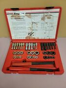 Snap-on 39 Piece Rethreading Set- Fractional And Metric- Tap And Die Rtd40