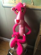 Vintage 1980 Large Pink Panther Mighty Star 36 Poseable Plush Bendable Toy