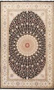 Wool/ Silk Geometric Traditional Oriental Area Rug Hand-knotted 6x10 Ft Carpet