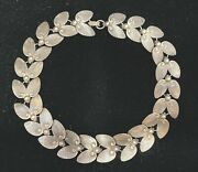 Vintage Sterling Silver Necklace Chocker Made In George Jensen Style Marked