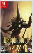 Blasphemous Deluxe Edition - Nintendo Switch New Free Us Shipping