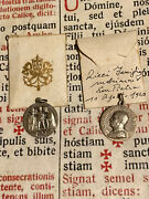 Rare Ancient Pope Pius Xii Lot New Silver Medals Memory Of Marriage 1940's