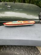 J. Chein And Co Wind-up Mechanical Tin Litho Peggy Jane Boat Parts Or Repair