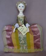 12andrdquo Queen Anne Style Wooden Doll By Artist Peter Wolf Signed Le 23/60 With Tag