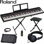New 88-key Keyboard Chair Set With Roland Portable Speaker Keyboard From Japan