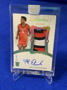 2020 Panini Flawless Anthony Edwards Rpa Rc Rookie Patch Auto 01/10