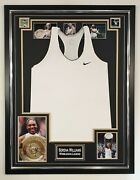 Serena Williams Signed Photo With Shirt Dress Autographed Framed Display