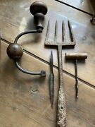 Antique Farm Tools Hand Forged Fork Germany