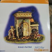 Department 56 Snow Village Halloween Grimsly's Tool Shed Retired 54717