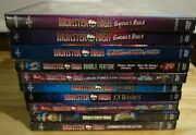 Monster High Dvd Lot X10 13 Wishes, Ghouls Rule, Friday Night Frights + More