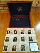 Franklin Mint Presidential Coin Collection Display Box W/11 Uncirculated Coins