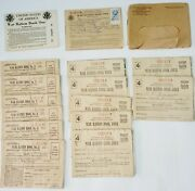 Vintage Wwii War Ration Books And Stamps Large Lot + 1918 Soldiers Letter