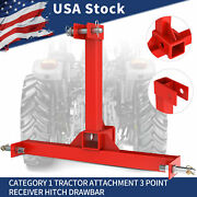3 Point Trailer Hitch 2 Receivers For Category 1 Tractors Towing Hitch Drawbar