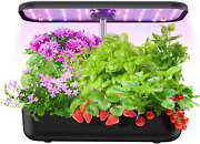 12 Pods Hydroponics Growing System, Indoor Garden Plant Kit With Led Grow Light,
