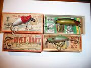 Heddon River Runts With Boxes And Paperwork . Tough Greenfish Color