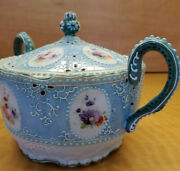 Vintage Nippon Moriage Hand Painted Lidded Serving Dish With Handles