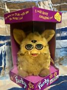 1998 Lizard Furby, Yellow And Brown Spotted, New In Sealed Box
