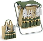 Oniva - A Picnic Time Brand Gardener 5-piece Garden Tool Set With Tote And Foldi