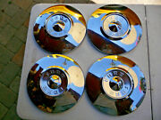1956 Ford And Thunderbird 10 Standard Hub Cap Good Used Set Of 4 No Paint