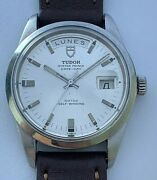 Vintage Tudor Jumbo Day Date Ref 7017/0 Automatic 38 Mm Silver Dial From 1970