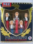 Pez First 5 Presidents Of The United States Volume 1 1789-1825 Sealed Pat 7.5
