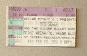 Bob Seger And The Silver Bullet Band Rare Concert Ticket Stub 02/09/1996