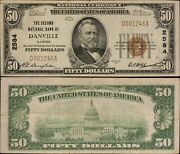 1929 Ty 1 50 National Currency - 2nd National Bank Of Danville Ill. - F- 1803-
