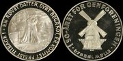1970 Denmark Sterling Silver Medal -june 15 - 50th Anniversary Of Reuinification