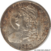 1832 Capped Bust Half Dollar Small Letters Pcgs Au50 Nice Rim Toning