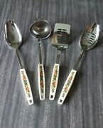 Vintage Ecko Spice Of Life Kitchen Utensil Set - 2 Spoons, Spatula, And Soup Ladle