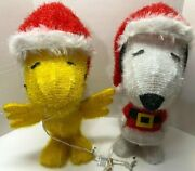 Snoopy And Woodstock Peanuts Set Of 2 Light Up 19 Christmas Figures