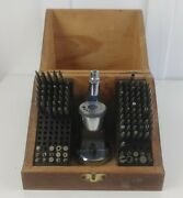 Cande Marshall Moseley Staking Tool Set Wood Box Case 124 Stakes Stumps Reamers