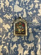 Disney Beauty And The Beast Dvd Release Stained Glass Disney Pin 16133 2002 Le
