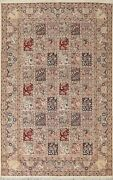 Vegetable Dye Garden Design Traditional Oriental Area Rug Wool Hand-knotted 7x11