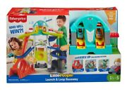 Fisher-price Little People Launch And Loop Raceway Light-up Vehicle Playset - New